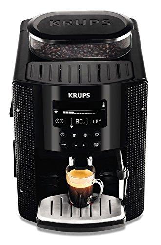 Krups EA815070 Kaffeevollautomat (1450 Watt, 1,8 Liter, 15 bar, LC Display, CappuccinoPlus-Düse) schwarz für 194,99€