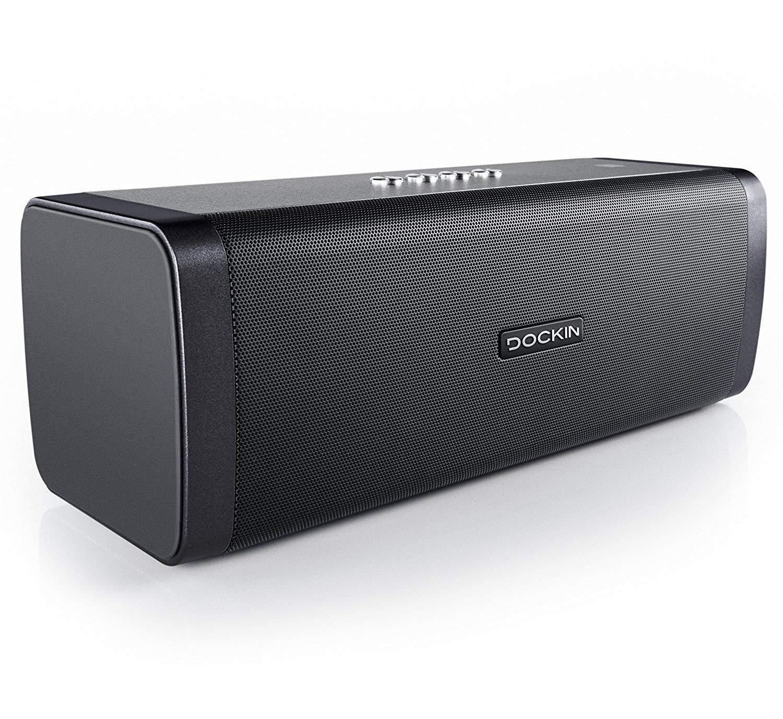 DOCKIN D FINE Hi-Fi Bluetooth Speaker - Lautsprecher für Indoor/Outdoor, Wireless, einfach tragbar, wasserdicht, 50 Watt, schwarz für 97,43€