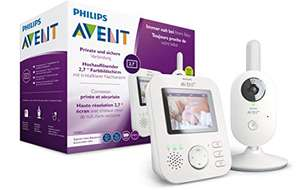 [Amazon] Philips AVENT SCD833/26 Video-Babyphone, 2,7 Zoll Farbdisplay, ECO-Mode, Gegensprechfunktion