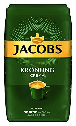 Jacobs Krönung Crema, Kaffee Ganze Bohne, 1 kg Kaffee @Amazon
