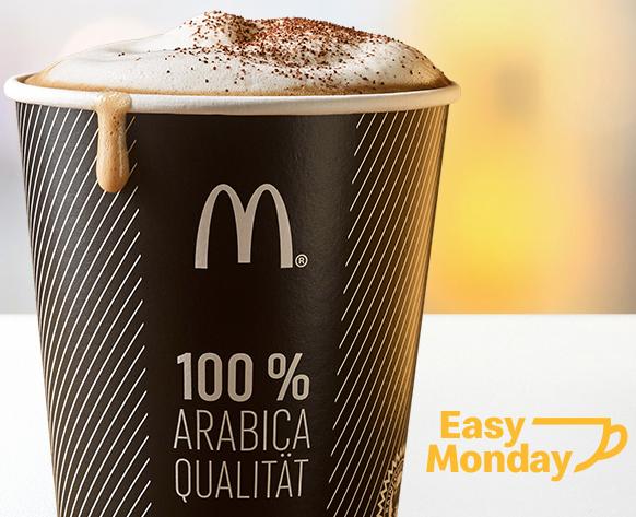 McDonald's - GRATIS Heißgetränk - jeden Montag - bis 10:30 Uhr