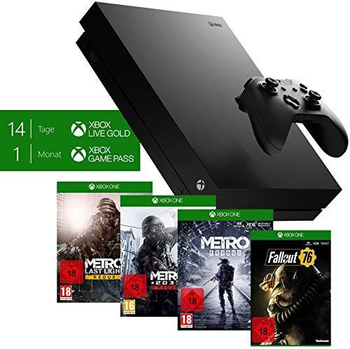 Microsoft Xbox One X, schwarz - Metro Exodus Bundle + Fallout 76: S.P.E.C.I.A.L. Edition für 389€