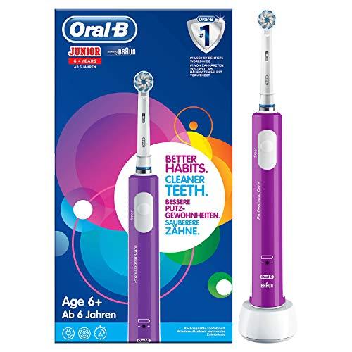 Amazon - Oral-B Junior Wiederaufladbare Elektrische Zahnbürste, für Kinder Ab 6 Jahren, lila 23,99 Euro
