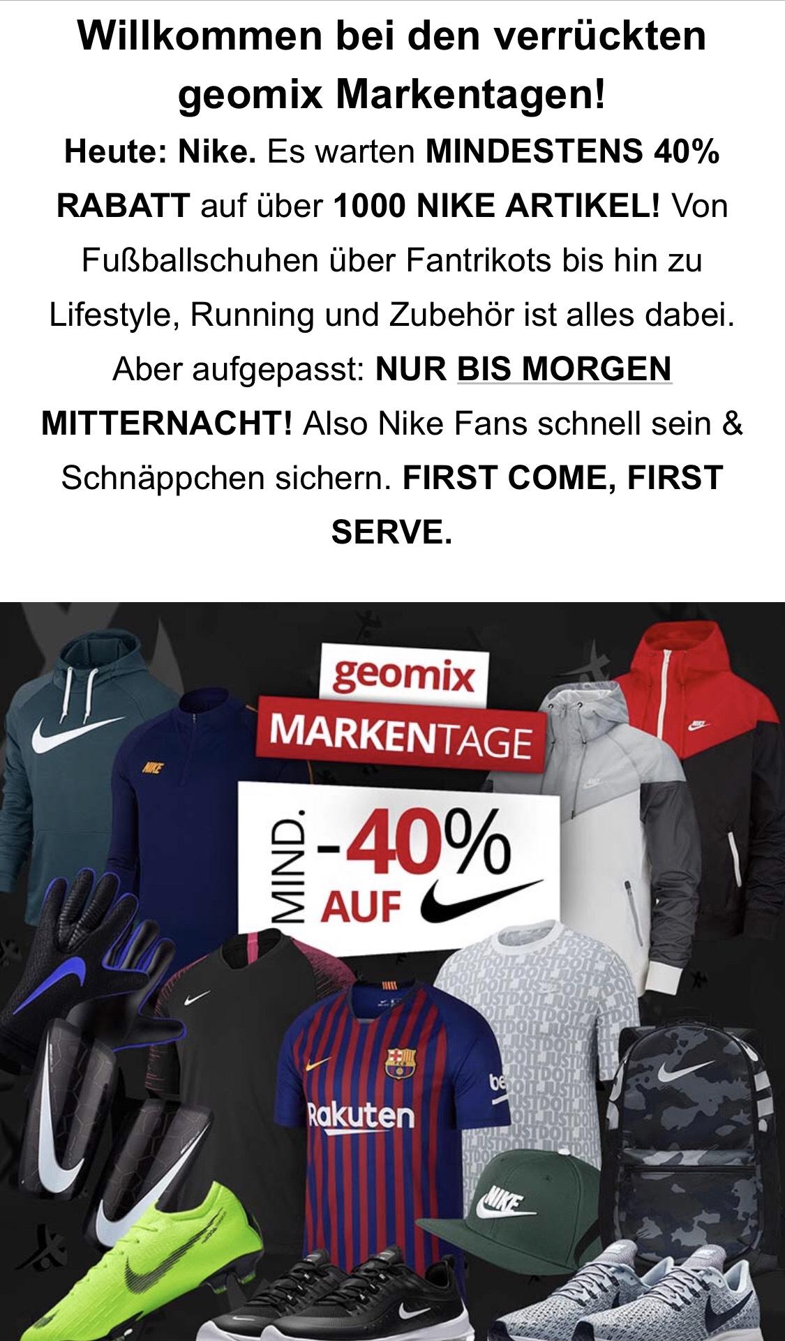 Geomix bis zu -40% auf Nike