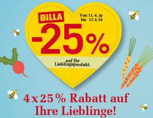 [Billa] -25% Rabatt Sticker ab 11.04.