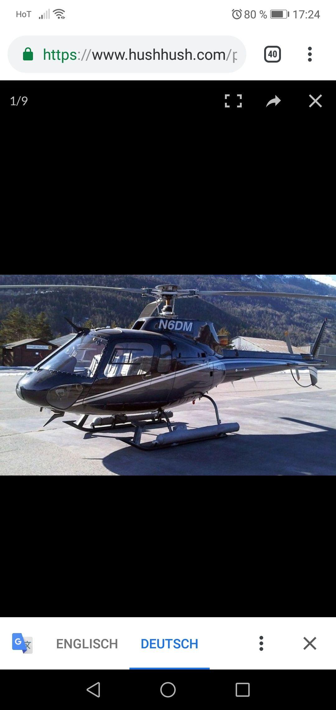 Helicopter Hubschrauber eurocopter