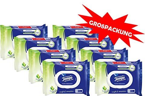 (Scheiß-Jäger) Tempo Sanft und Sensitiv feuchtes Toilettenpapier Riesenpackung (16 Packungen x je 42 Tücher)