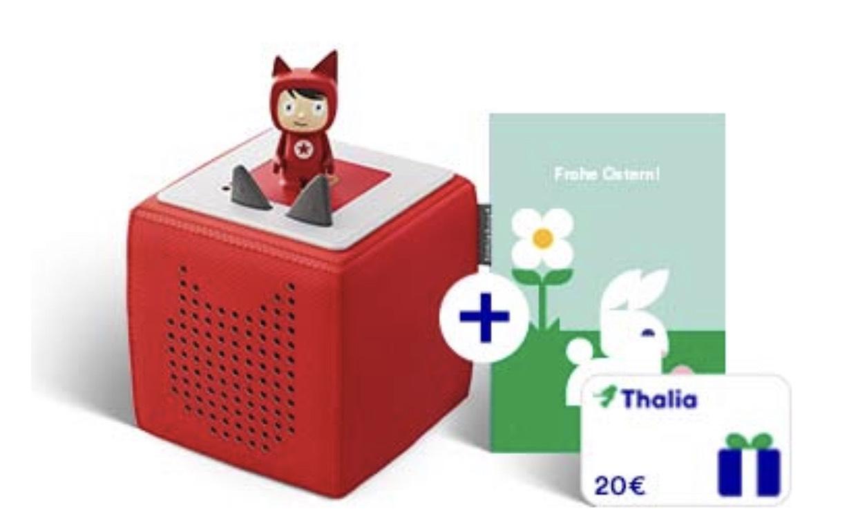 Toniebox Kreativ-Tonie Starterset Rot oder Blau + 20€ Thalia Gutschein für 79,95€