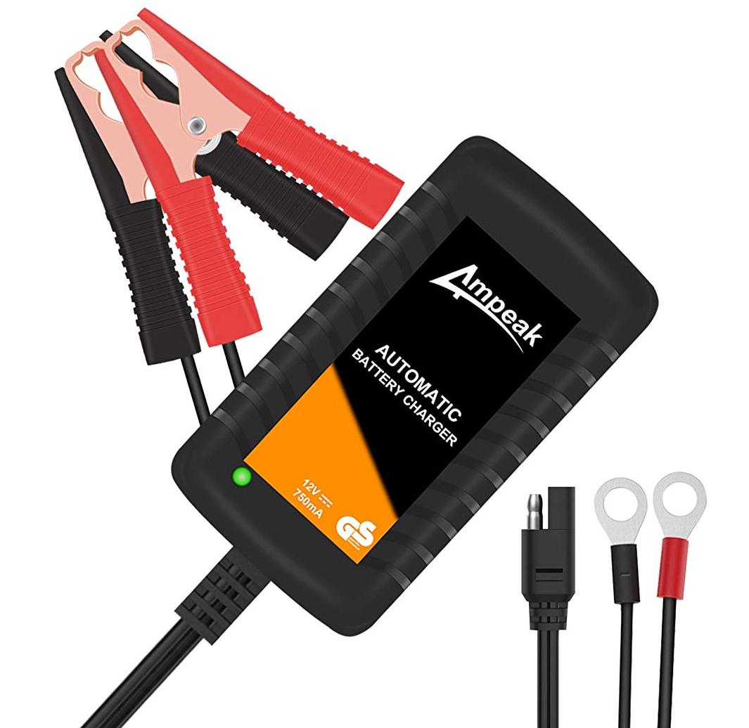 Ampeak Batterieladegerät 12V 750mA für Auto und Motorrad