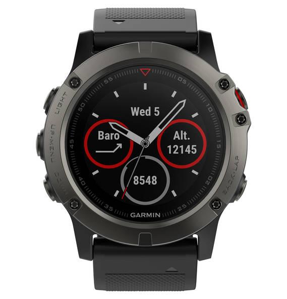 Für aktive Wüsten-, Busch- und Dschungeljäger - Smartwatch Garmin Fenix 5X (grau/schwarz) um 399,00 (exkl. Versand)
