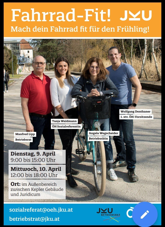 Fahrradfit-Aktion der ÖH JKU Linz