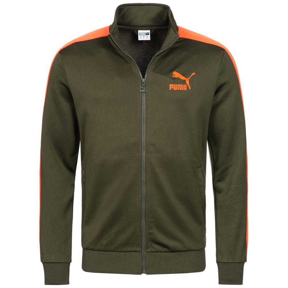 [SportSpar] PUMA Classics T7 Track Jacket Herren Trainingsjacke in olive/orange oder rot