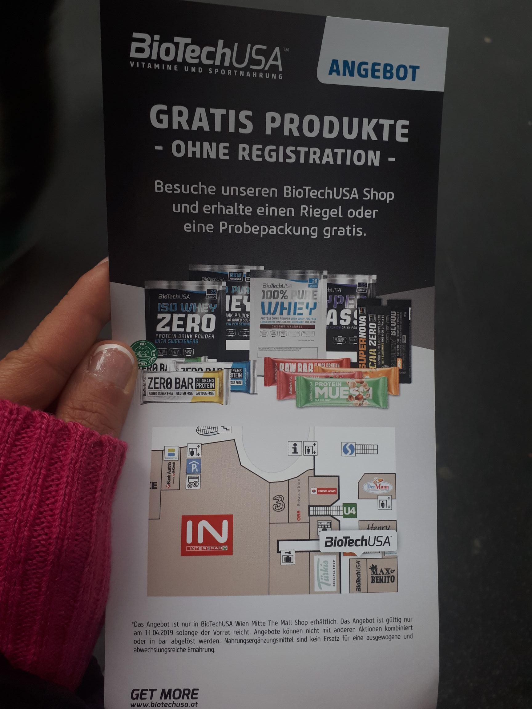 BioTechUSA | Gratis-Produkt in der Mall in 1030 Wien | nur HEUTE