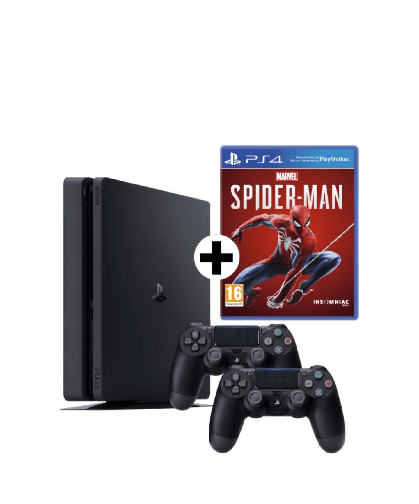 PS4 1TB Slim + 2 Controller inkl. Days Gone, Marvel Spider Man und 2 weitere Spiele