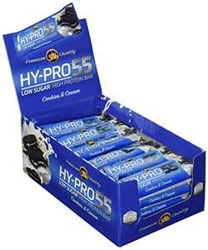 Amazon - All Stars Hy-Pro 55 Bar, Cookies & Cream oder Coconut, 24er Pack (24 x 55 g) für 27,99 Euro