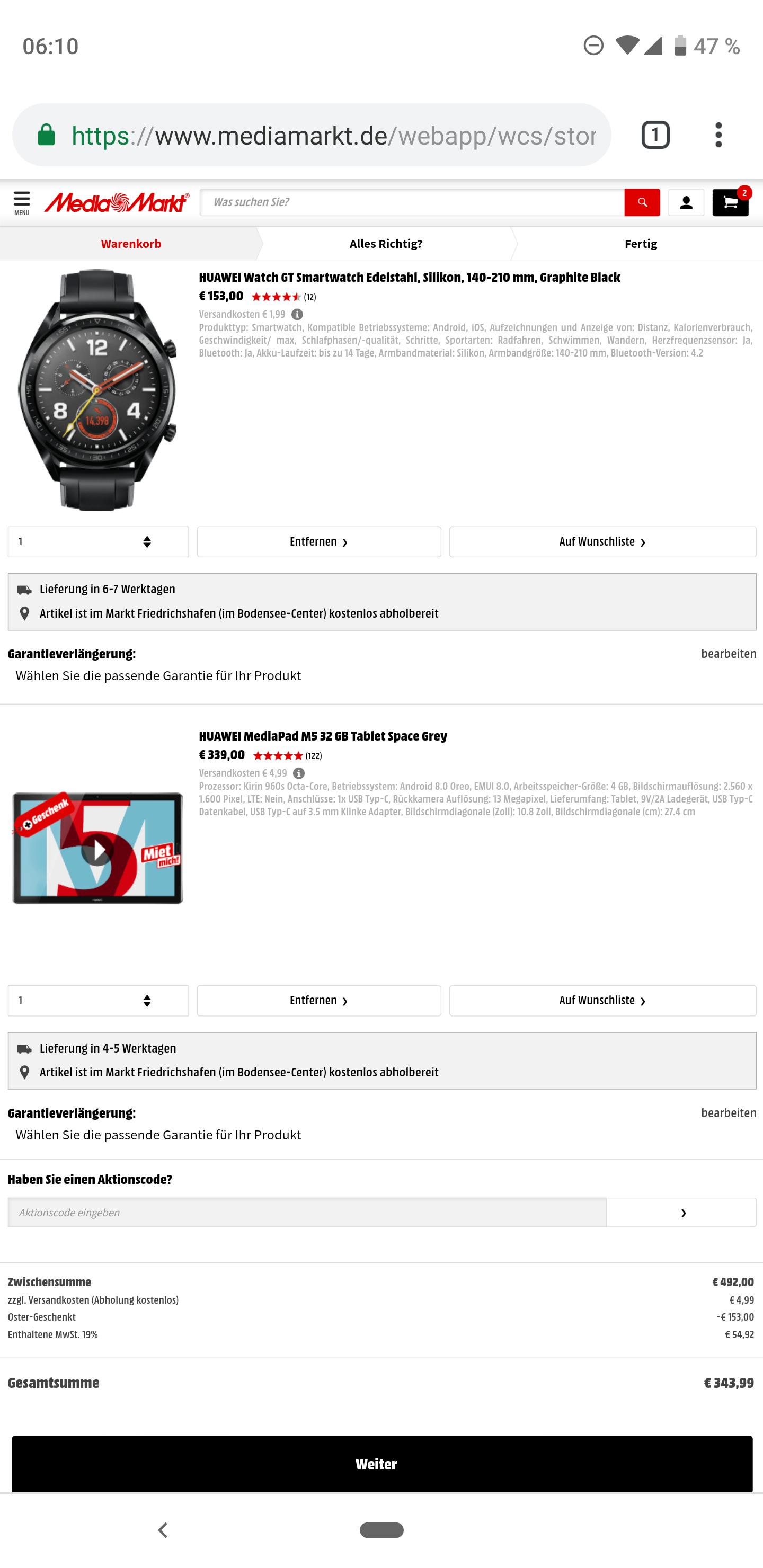 Huawei Mediapad M5 + Watch GT