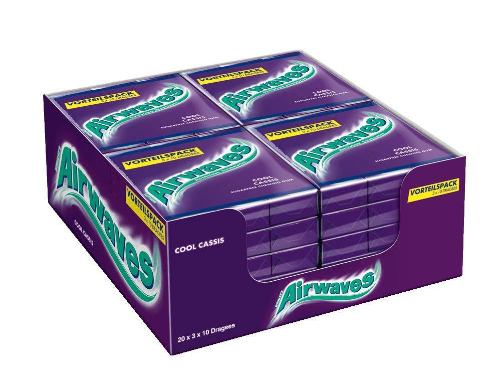 [Amazon] Airwaves Cool Cassis / Ice Fruit, 3x10 Dragees, 20er Pack - oder als Sparabo für 26,22 €