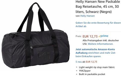 Helly Hansen New Packable Bag Reisetasche, 45 cm, 30 liters, Schwarz