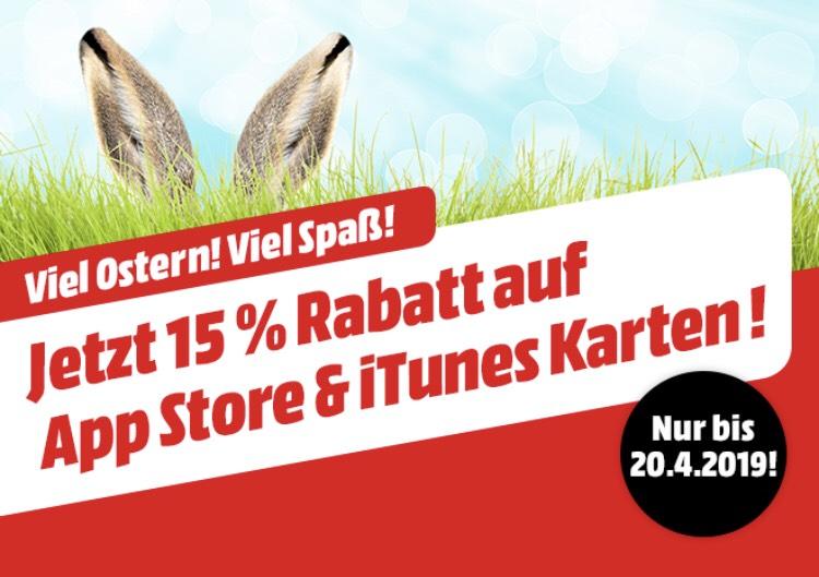 MediaMarkt: 15 % Rabatt auf itunes Karten & App Store