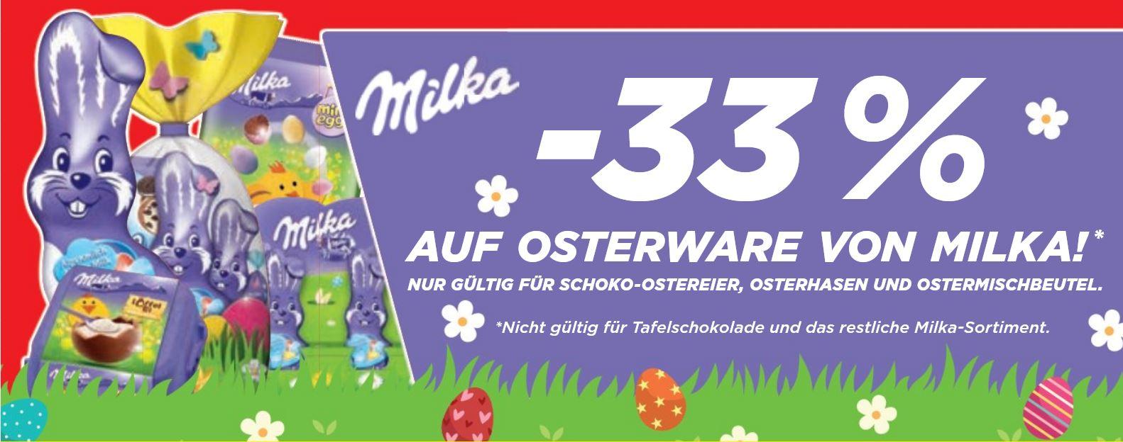 [Penny] -33% Rabatt auf Osterware von Milka