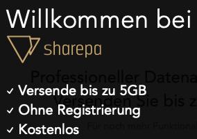 SharePa: kostenlos + ohne Registrierung bis zu 5GB Daten versenden