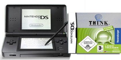 Nintendo DS Lite + Think Again 2 für 101€