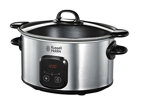 Russell Hobbs 22750-56 Digitaler Schongarer MaxiCook, Crock Pot, einstellbare Garzeit, 6.0l, Edelstahl/schwarz für 35,99€