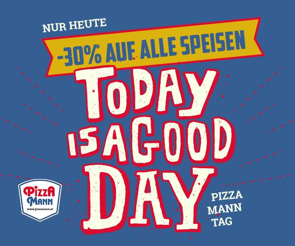 Pizza Mann: 30% Rabatt auf alle Speisen - nur heute gültig