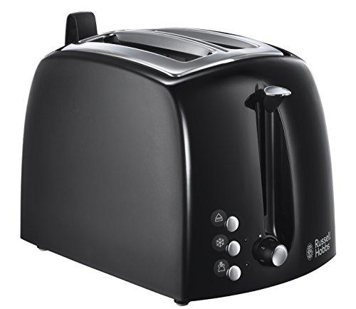 [Amazon] Russell Hobbs Toaster Textures Plus, 2 extra breite Toastschlitze, Brötchenaufsatz, 850 Watt, schwarz