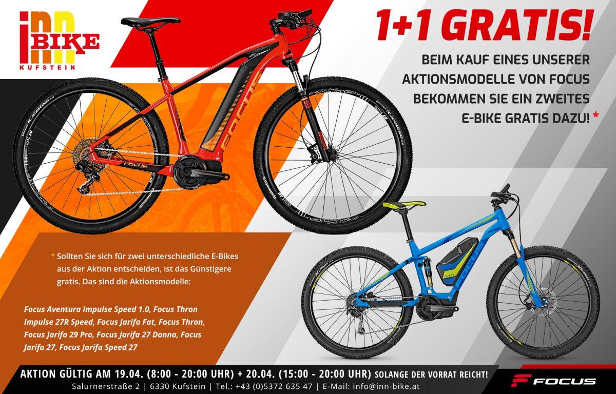 [Lokal-6330 Kufstein] 1+1 Gratis auf E-Bikes