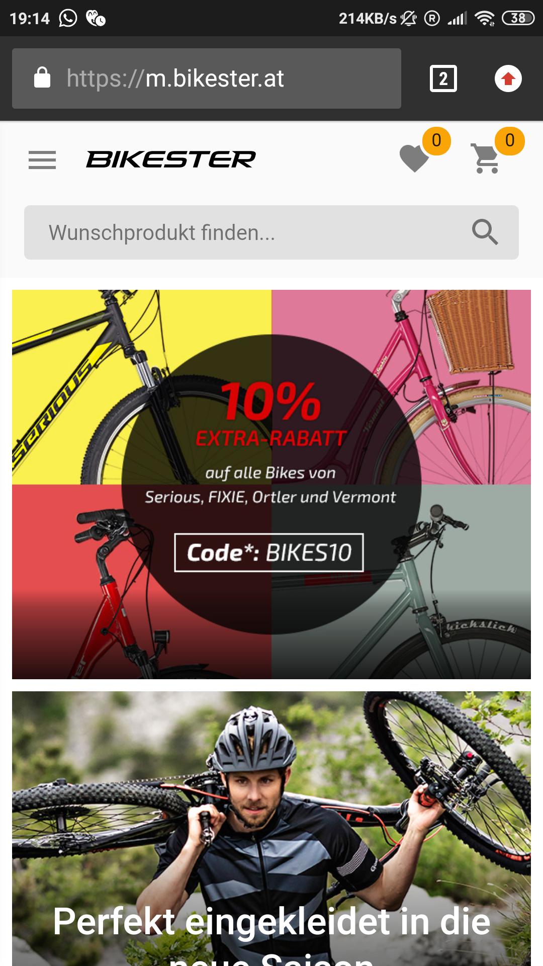 Bikester Fahrrad Fahrräder Eigenmarken auch SALE -10%  Top Preise für Bikes möglich