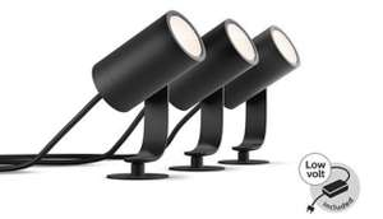 Philips Hue Lily LED Outdoor 3er-Set. Kleiner Bestellaufwand. (Amazon.Fr)