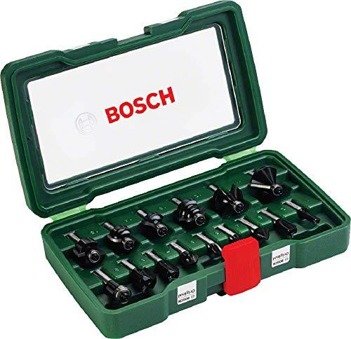 [Amazon] Bosch 15tlg. Fräser Set (Holz, Zubehört für Oberfräsen mit 8 mm Schaft)