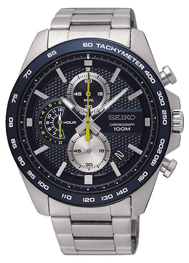 [Amazon] Seiko Herren Chronograph Quarz Uhr mit Edelstahl Armband SSB259P1
