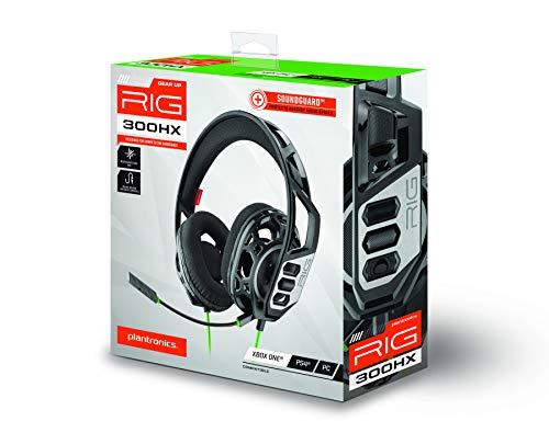 Plantronics RIG 300 HX Binaural Kopfband Schwarz Headset – Kopfhörer für 20€