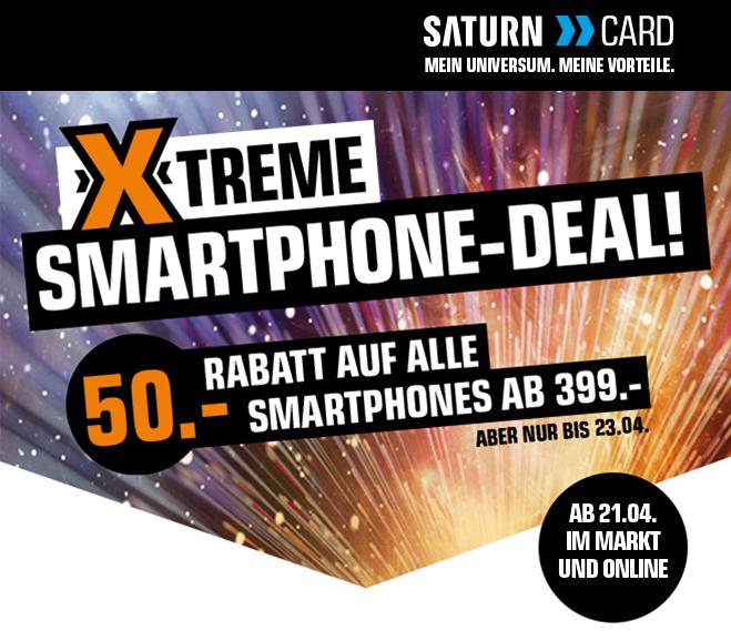 [Info] XTreme Smartphone-Deal - ab 21.04 (online) auf ALLE Smartphones ab 399.- Euro gibts 50.- Euro Rabatt !!!