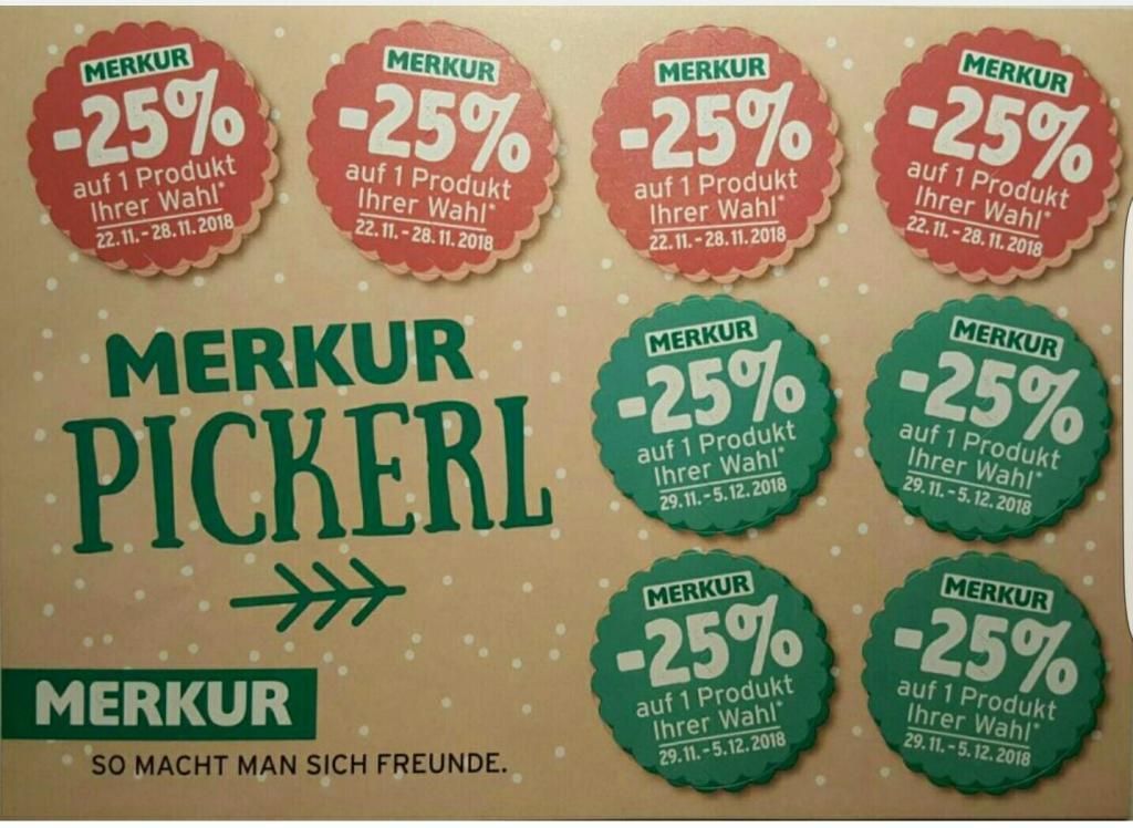 (Merkur) -25% Rabatt Sticker von 25.04 bis 30.04 und 02.05. bis 08.05 auch ONLINE