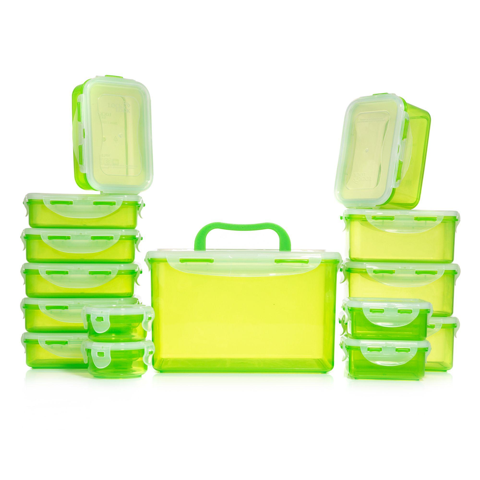 [QVC] LOCK&LOCK Frischhaltedosen-Set 15-Dosen mit Neukundengutschein - verschiedene Farben