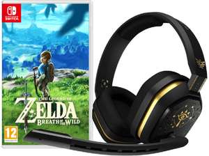 ASTRO GAMING Gaming Headset A10 Zelda Design + The Legend of Zelda Breath Of The Wild [SWITCH]