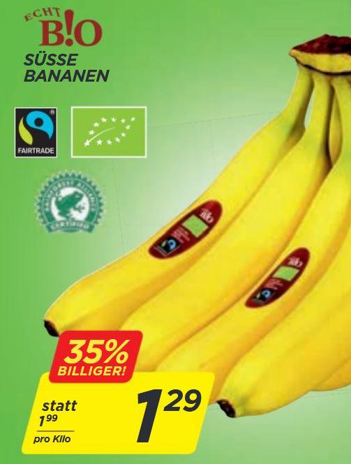[Penny] Echt B!O Bananen 1,29 € / kg