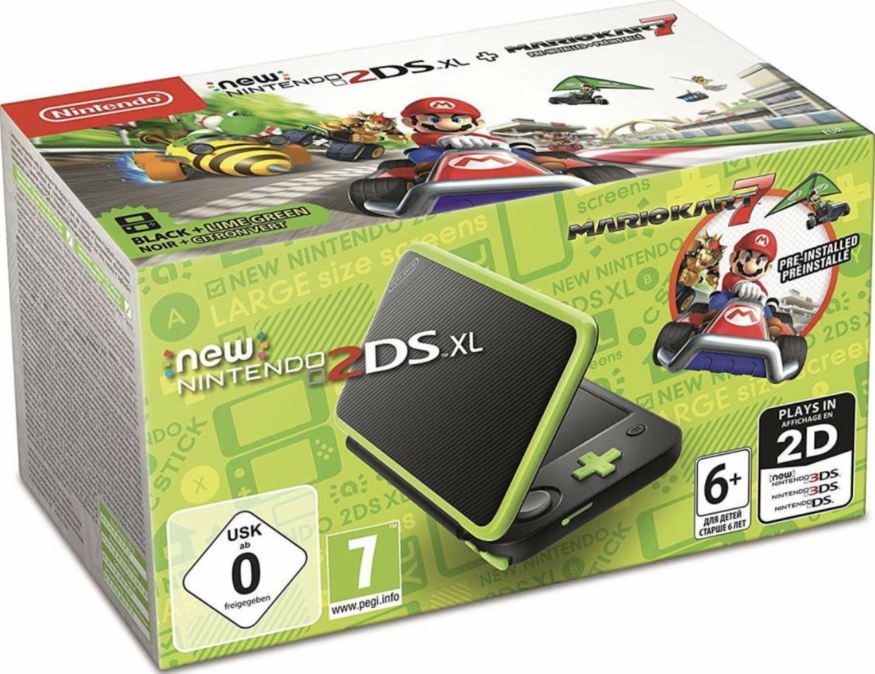 Nintendo New 2DS XL schwarz-apfelgrün + Mario Kart 7 für 105,75€(Amazon.fr)