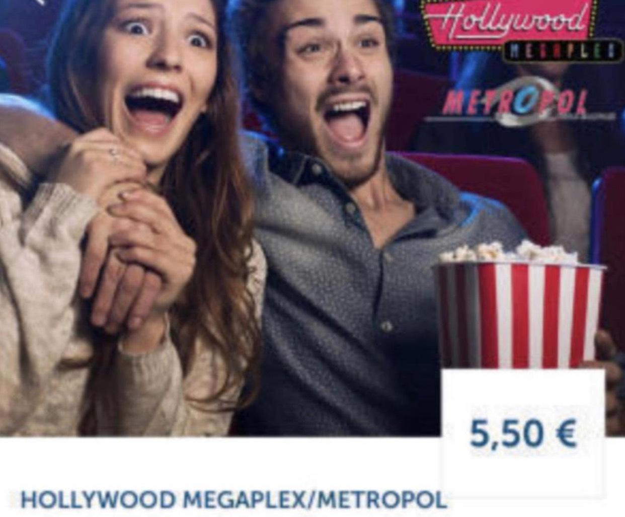 Hollywood Megaplex / Metropol: Montag Kino Tickets um 5,50 €
