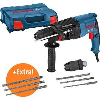 Bosch Professional Bohrhammer GBH 2-26 F Set inkl. zusätzlichem Bohrerset für 134,99€