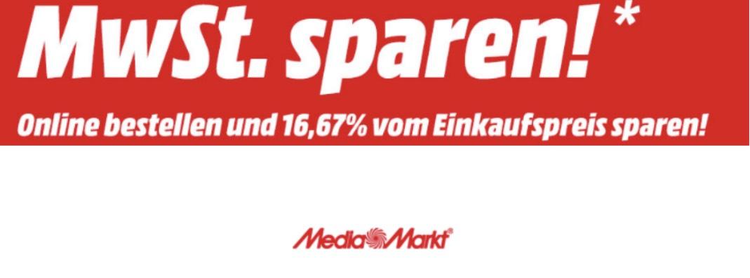 Mediamarkt: Mehrwertsteuer (16,67%) Auf alle Lagernden Artikel Geschenkt