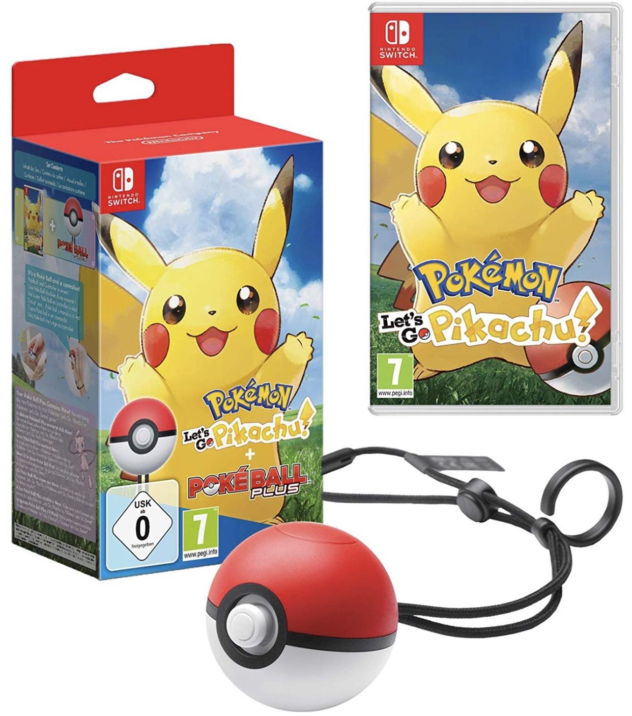 Pokémon: Let's Go, Pikachu! + Pokéball Plus für 47,40€