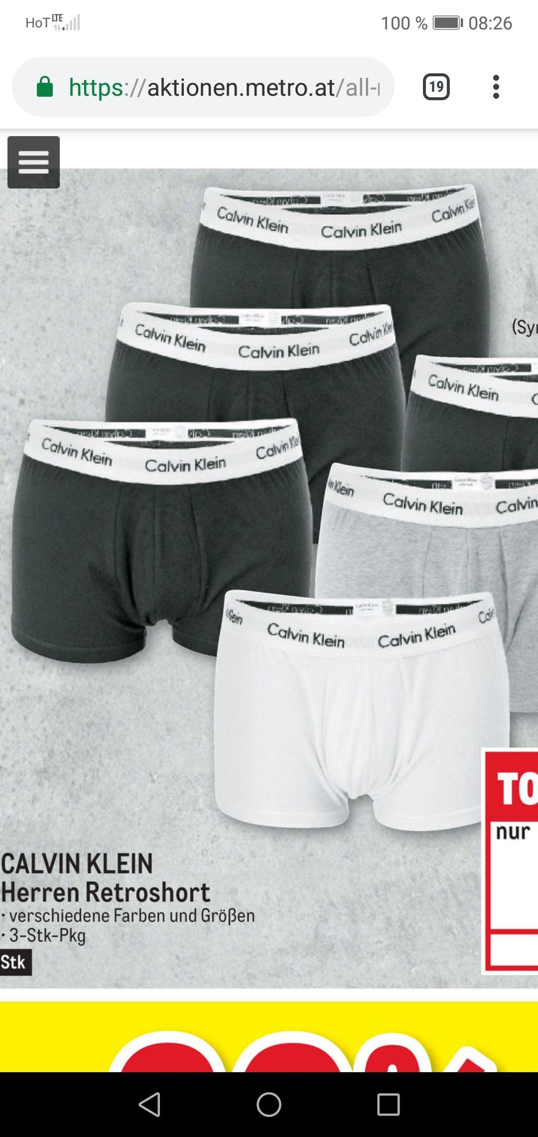Metro Calvin klein shorts 3 Stück