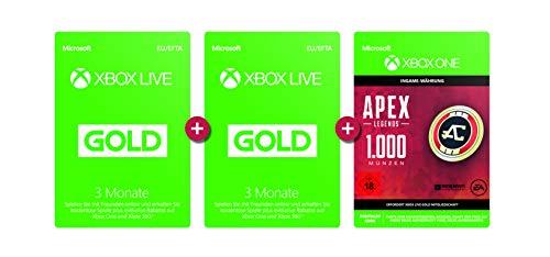 XBox Live GOLD 3+3 Monate Gratis + 1000 Apex Legends Coins Goodie