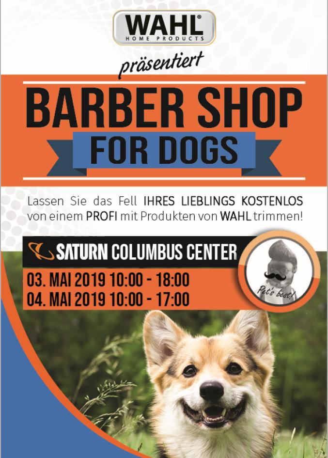 Barber Shop für Hunde im Saturn Wien 10.