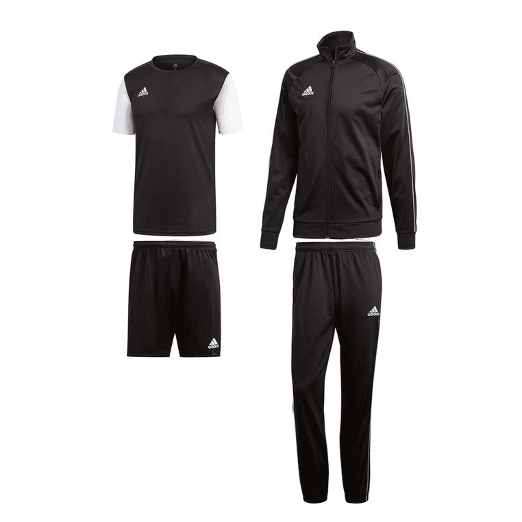 adidas Trainingsset Core 18 4-teilig (Jacke + T-Shirt + Hose + Shorts) in unterschiedlichen Farben