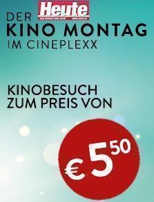 Kino Montag - Kino um 5,50 € (Cineplexx- und Constantin-Film-Kinos)